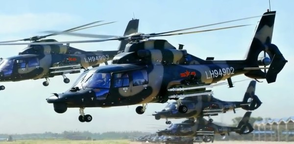 Helicopters of the PLA. (Screenshot/Youtube)