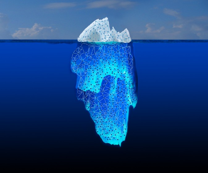 "What you see when you do a basic Web search is only the tip of the iceberg. Most of the information is buried in the ""Deep Web."" (NASA/JPL-Caltech)"