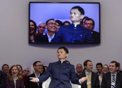 Alibaba Group Founder and Executive Chairman Jack Ma gestures as he speaks during a session of the World Economic Forum (WEF) annual meeting on January 23, 2015 in Davos. (Fabrice Coffrini/AFP/Getty Images)