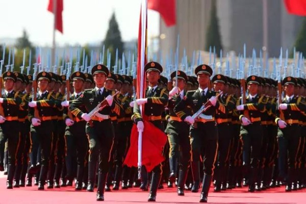 The grand military parade took place at Tiananmen Square, Beijing on Sep 30. (Image: Weibo.com)