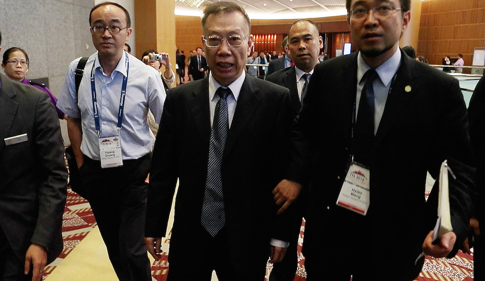 Former Health Minister of China, Huang Jie Fu (center). He is also the honorary chairman of the 'Organ Procurement Organization' (OPO) in China. (Image: ZhengWu Li)