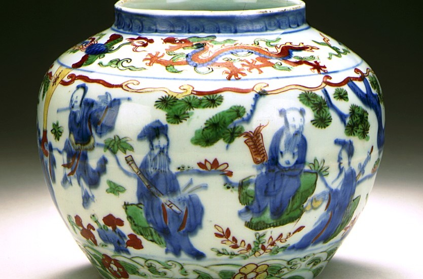 Jar (ping) with the 8 Immortals (Baxian) from the Ming Dynasty. (Image: Wikimedia Commons)