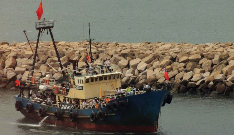 "Chinese fishing trawler Kai Fung No.2 took 14 Chinese nationals in 2012 to the Diaoyu Islands ""to assert China's sovereignty,"" reported Chinese state media in 2012. The islands are also known as the Senkaku Islands by the Japanese, who control them. (Image: Wikipedia Commons)"