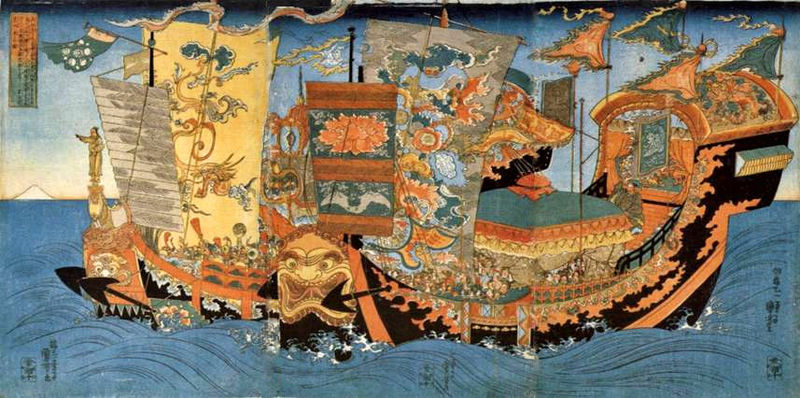 Battle and transport ships were key to any empire in ancient China because of the many rivers and other waterways. (Image: Wikimedia Commona)