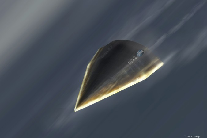 An artistic rendition of DARPA's Hypersonic Technology Vehicle (HTV-2). The Chinese regime recently held its fourth test of a hypersonic missile. (DARPA)