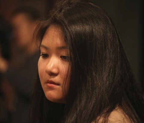 Lisa Peng, daughter of Chinese democracy activist Mr. Peng Ming and student at Harvard University, testified before the Congressional-Executive Commission on China, June 3, at a hearing on