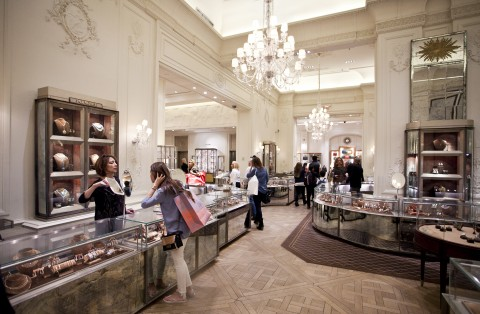 The Lorraine Schwartz store inside the Bergdorf Goodman on 5th Ave, April 10, 2013. (Samira Bouaou/The Epoch Times)
