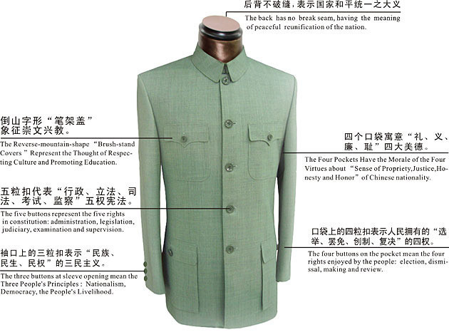 Chinese traditions are represented in the uniform's design. (Image: NTDTV)
